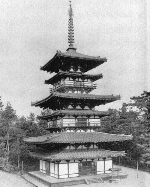 Восточная пагода якусидзи в нара