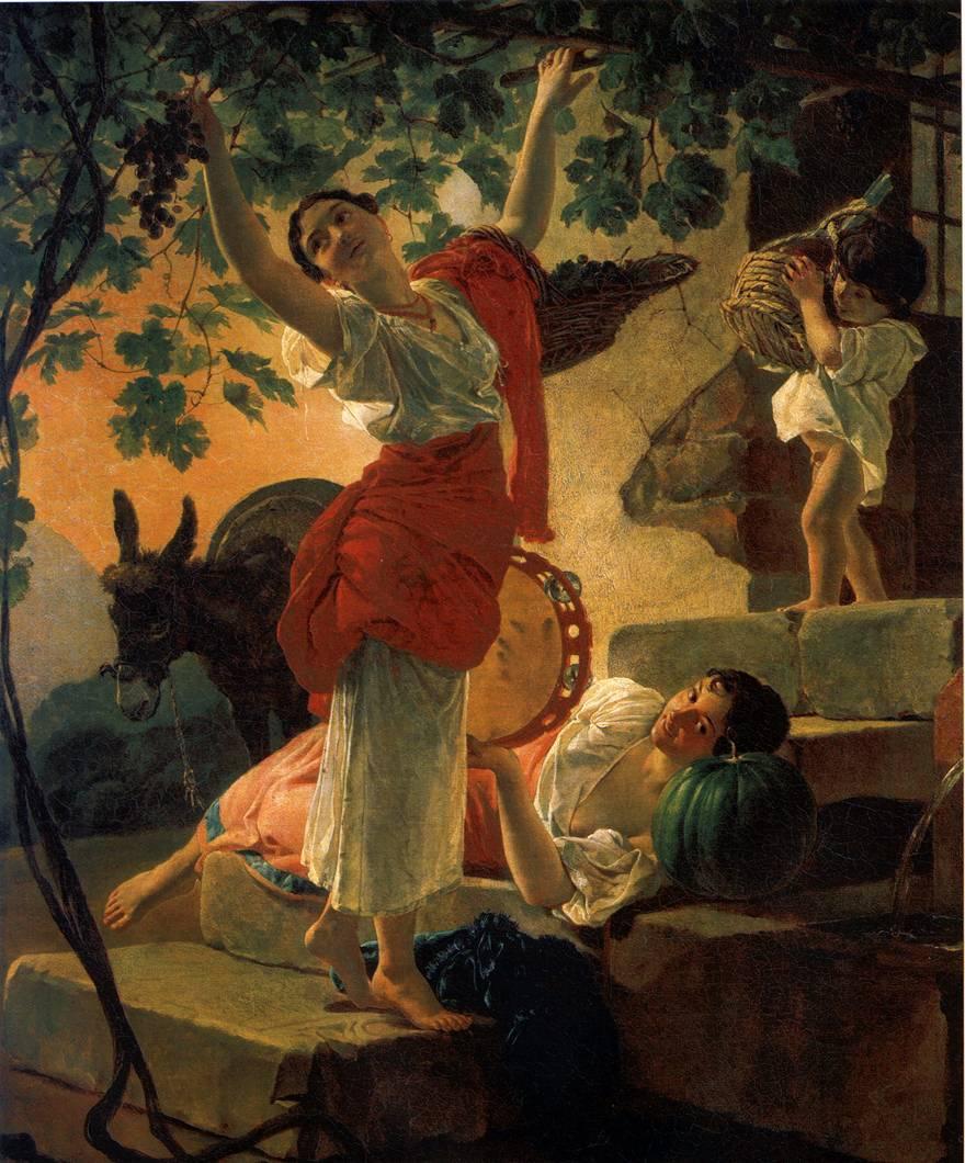 картина Девушка, собирающая виноград в окрестностях Неаполя
