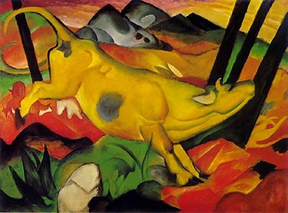 Картины Франца Марка. Желтая корова