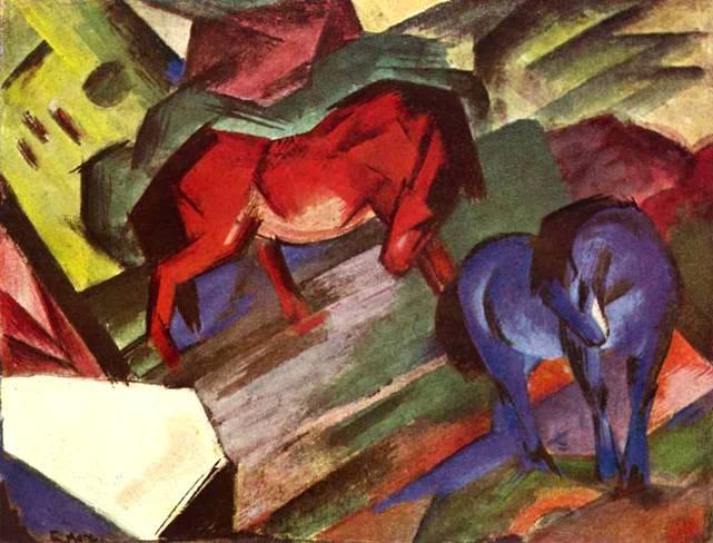 Красный и синий кони