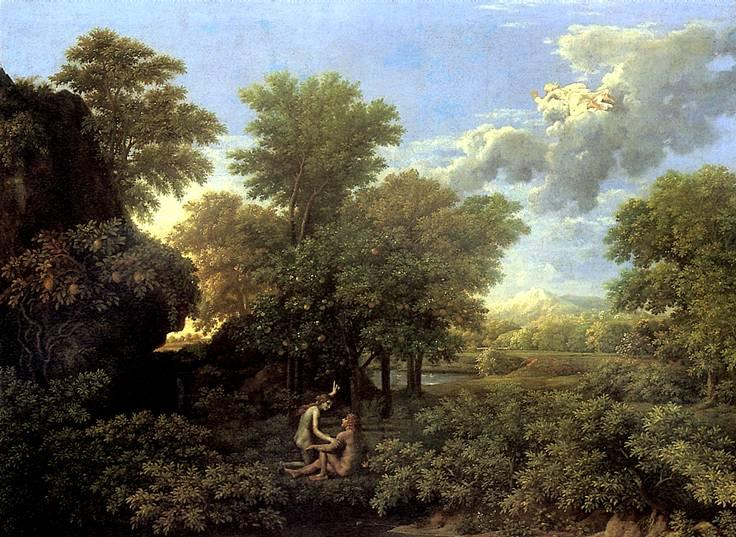художник Никола Пуссен картина Весна, или Рай земной ...