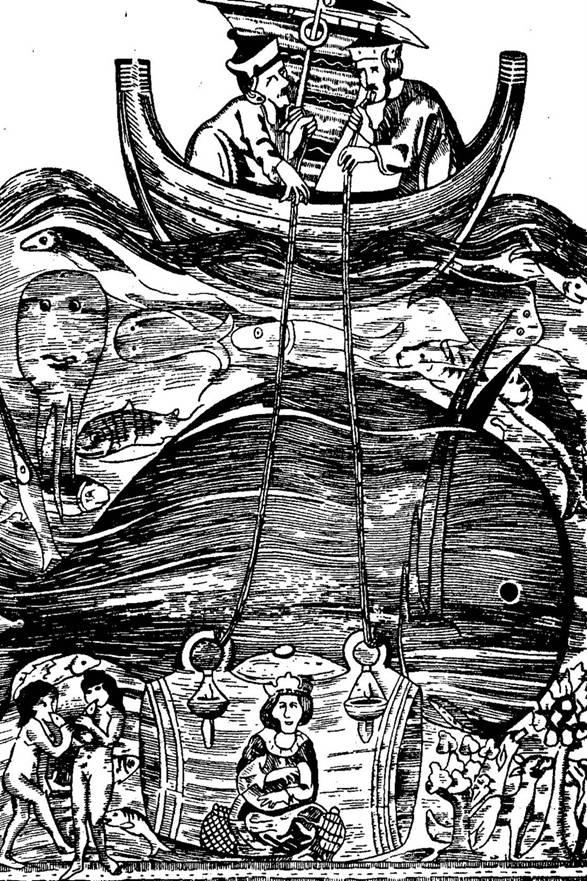 Водолазный колокол иллюстрация к