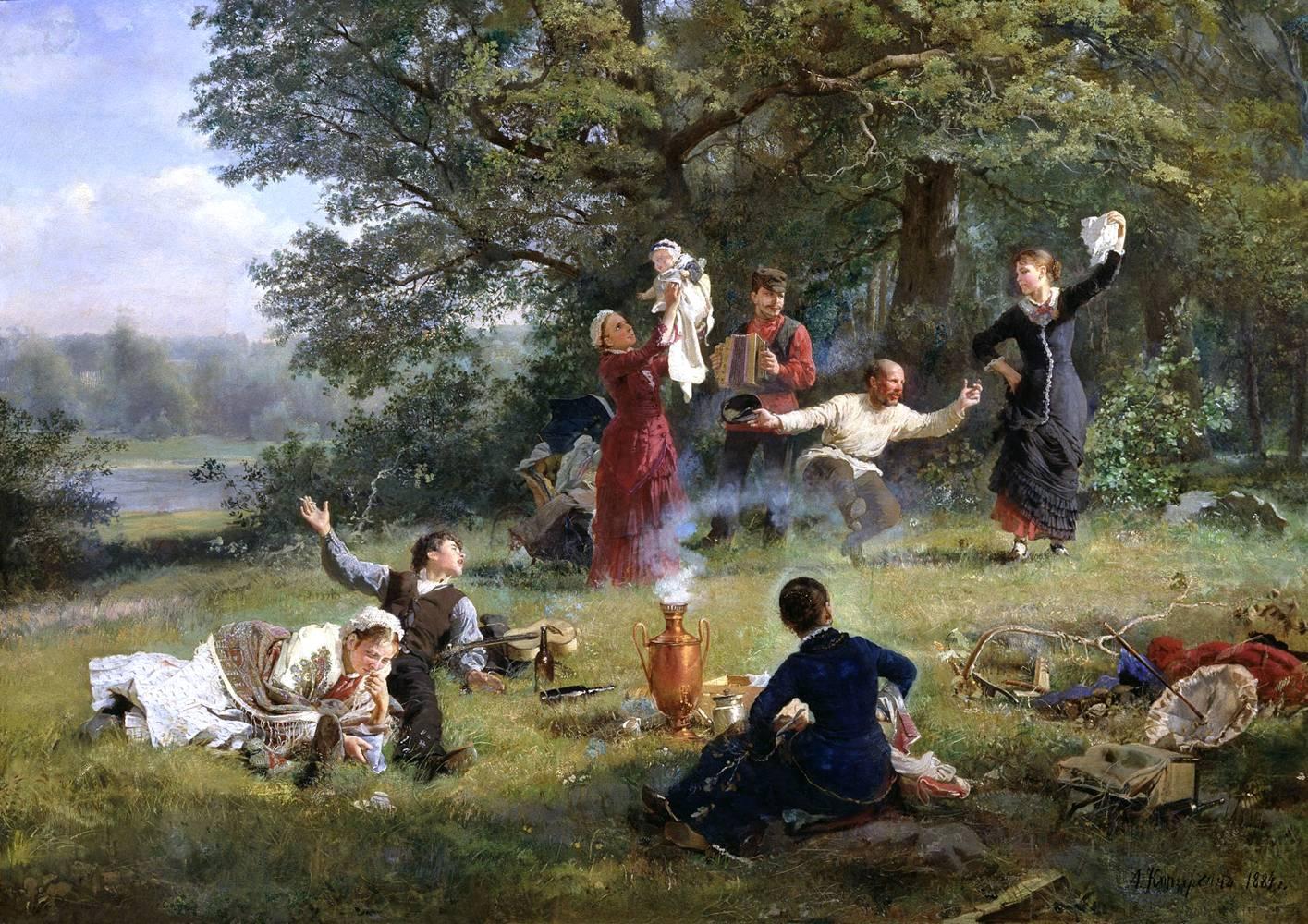 Картина корзухина воскресный день