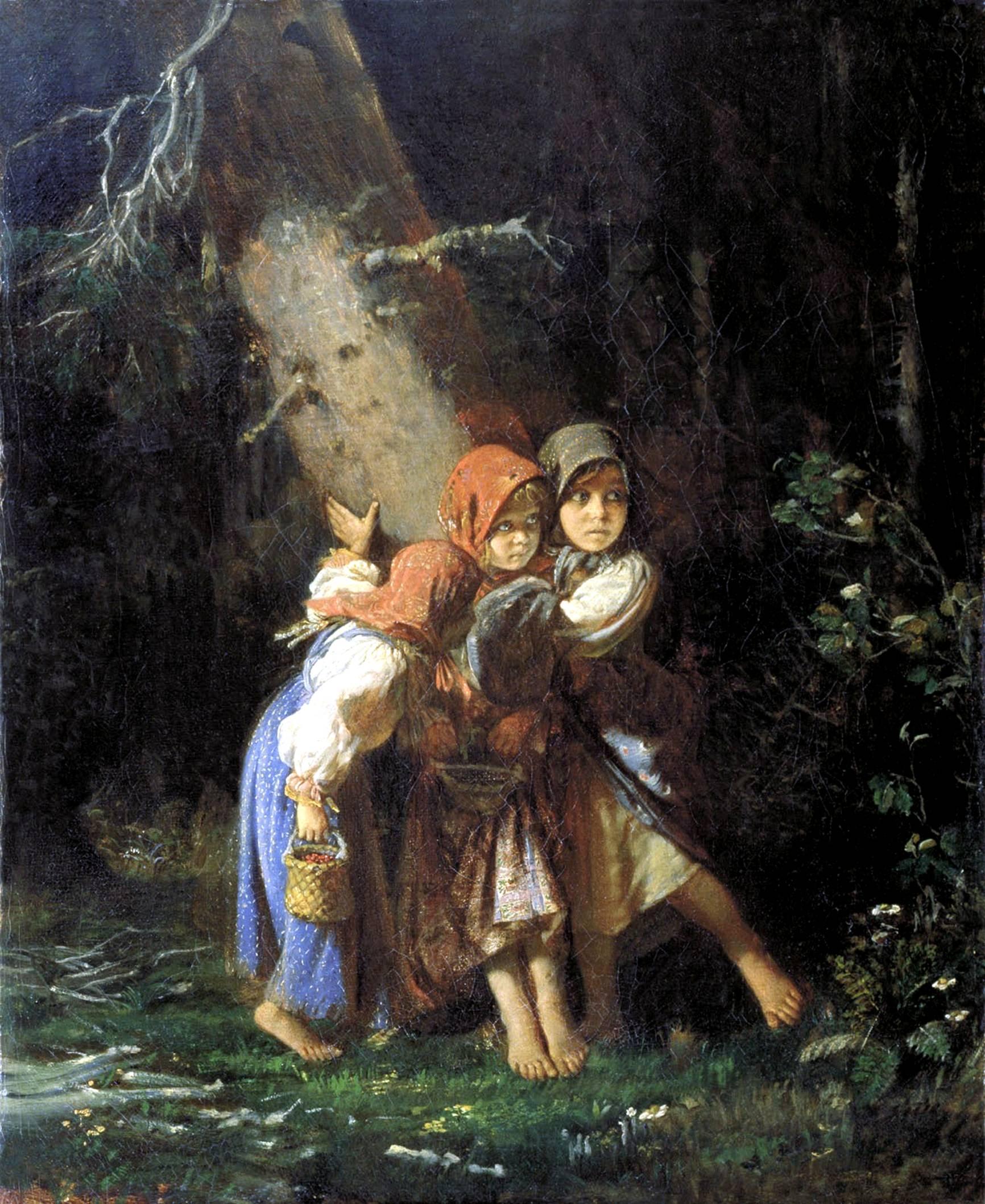 русские девочки в лесу