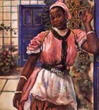 Марокканка в розовом платье