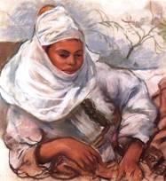 Женщина в белом головном уборе