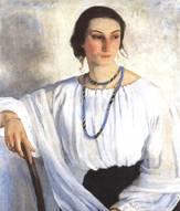 Портрет сестры Е. Зеленковой
