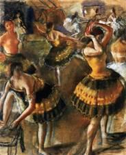 Балет. Балерины в уборной