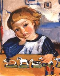 Картины художника Зинаиды Евгеньевны Серебряковой Сын Женя