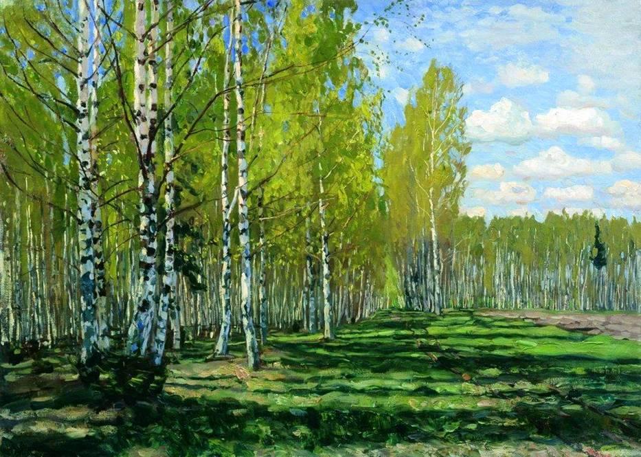 Картинки лес березовый