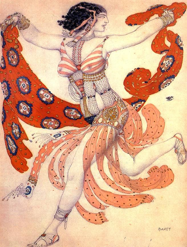 Эскиз костюма Клеопатры для Иды Рубинштейн