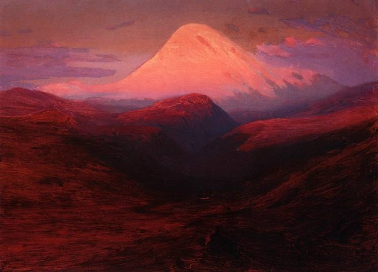 Название картины эльбрус на закате