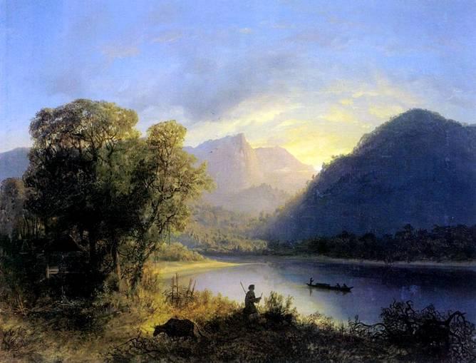 Горный пейзаж живопись