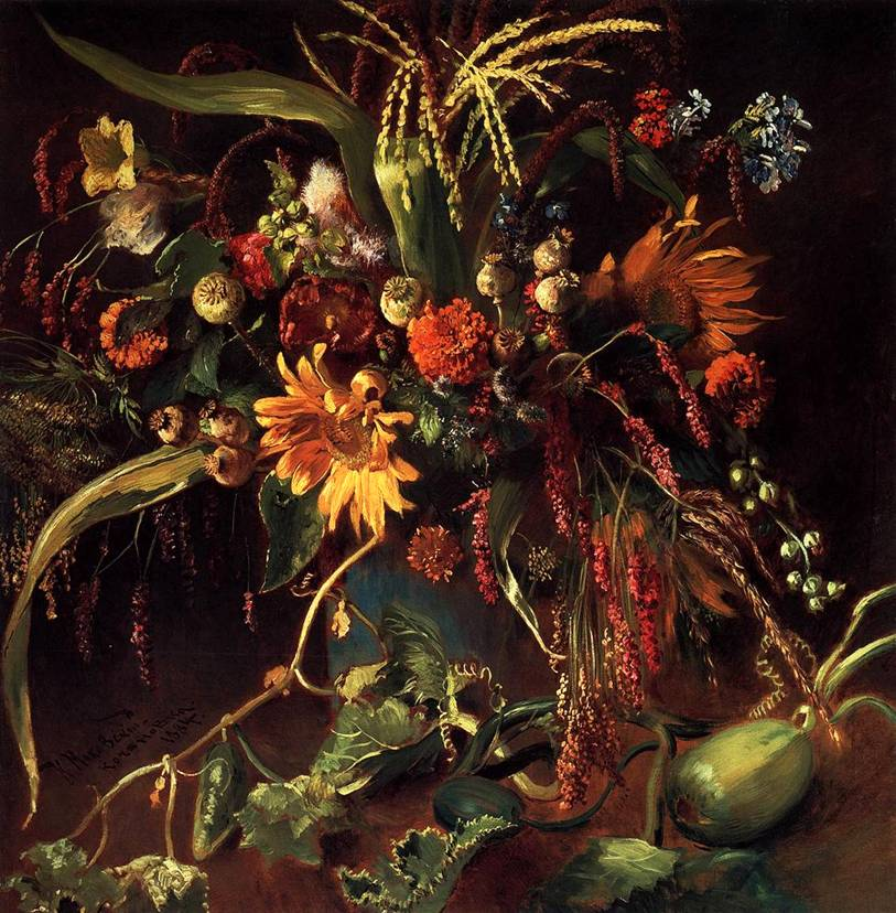КАРТИНЫ МАКОВСКОГО. Картина Цветы. 1884: www.bibliotekar.ru/kMak/2.htm
