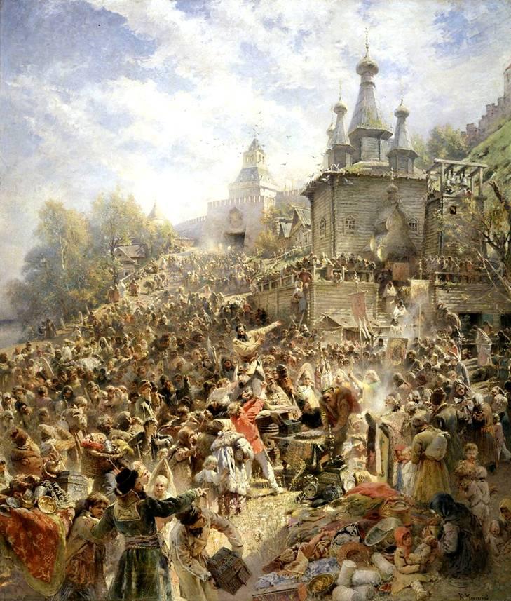 ... на площади Нижнего Новгорода. 1890-ые: bibliotekar.ru/kMak/9.htm