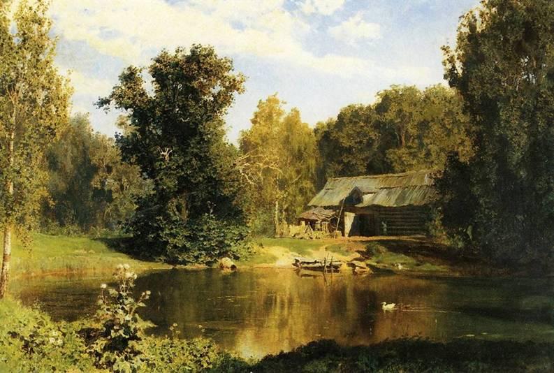 Картина Поленова Пруд в