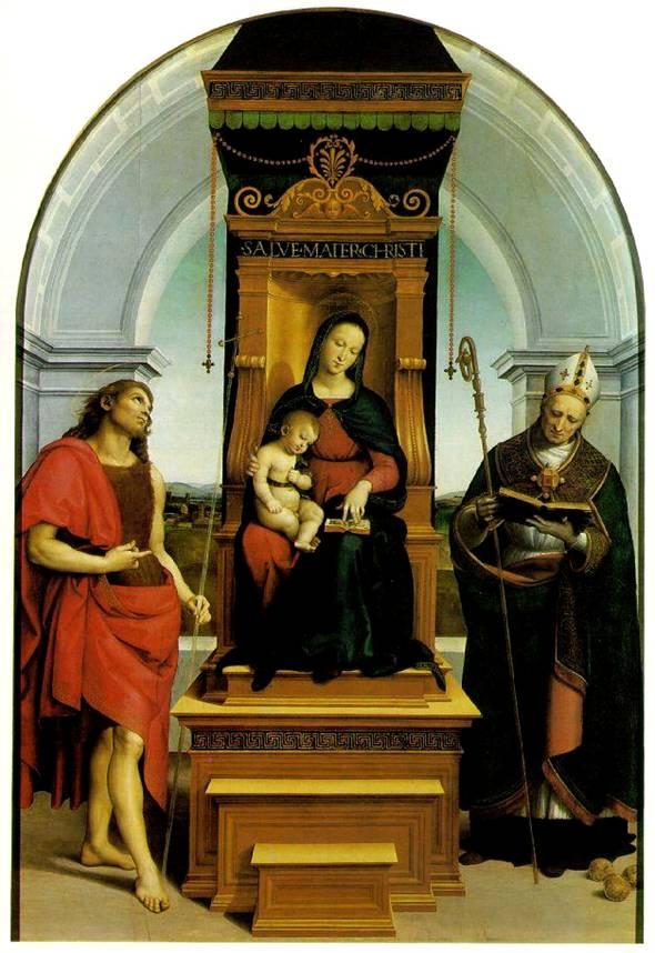 Рафаэль Мадонна с Младенцем и Иоанном Крестителем