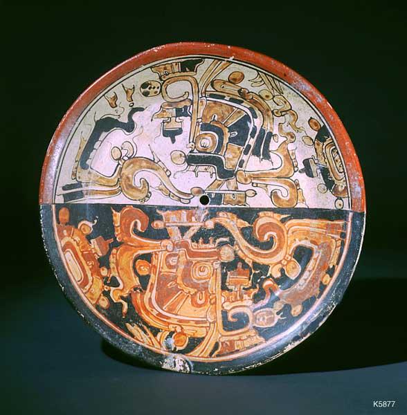 Искусство майя тарелки