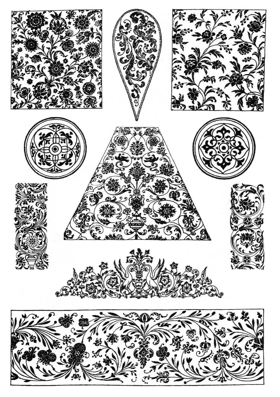 Русские узоры и мотивы роспись