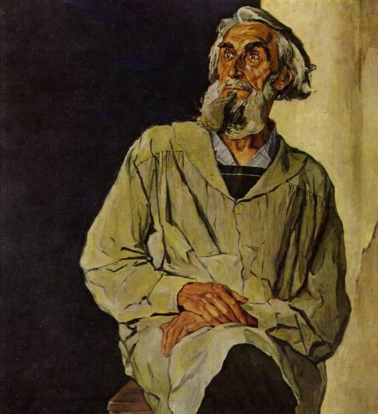 художник КОРИН П. Д. (1892—1967) ПОРТРЕТ С. Т. КОНЕНКОВА 1947 ...