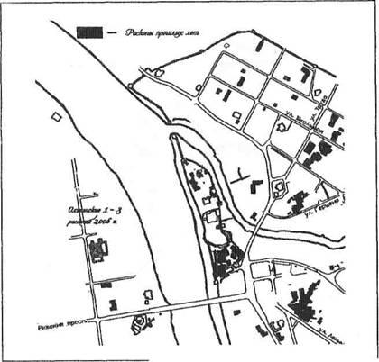 План расположения Ольгинских