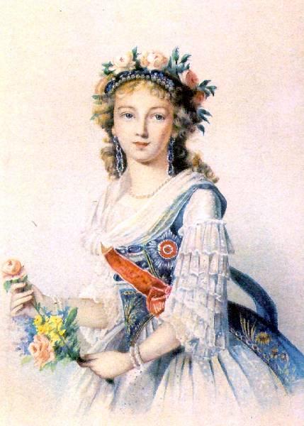 Она родилась 13 января 1779 года в семье маркграфа Баден-Дурлахского и была наречена Луизой-Марией-Августой.