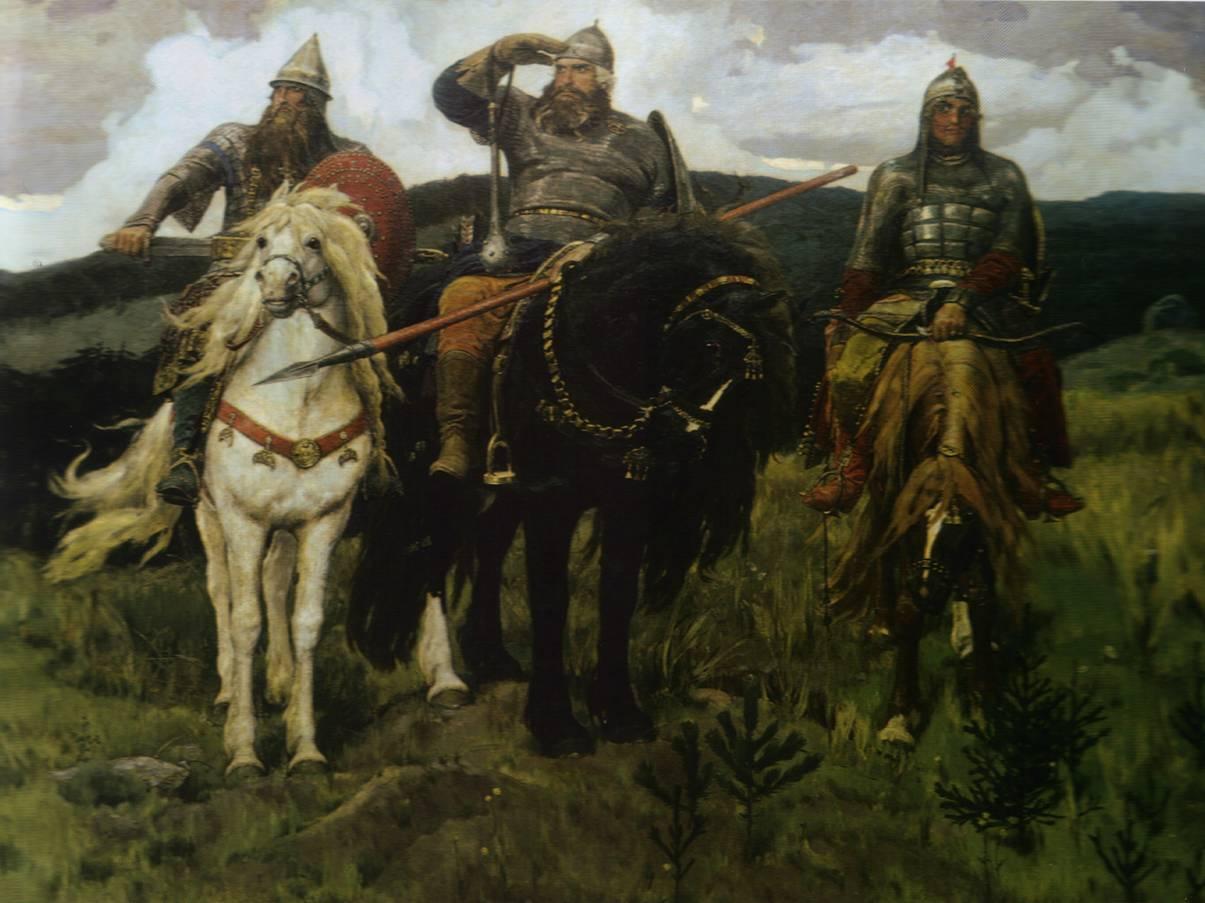 Картина «Богатыри» (Три богатыря). 1898: bibliotekar.ru/rusVasnecov/35.htm